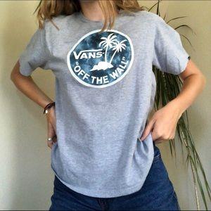 Vans grey t shirt